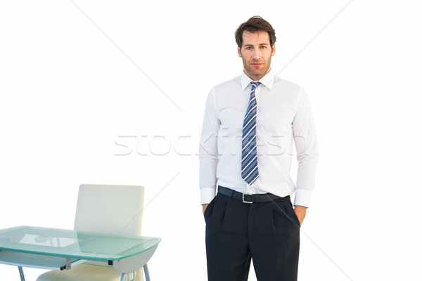üzletember áll kezek férfi öltöny asztal Stock fotó © wavebreak_media