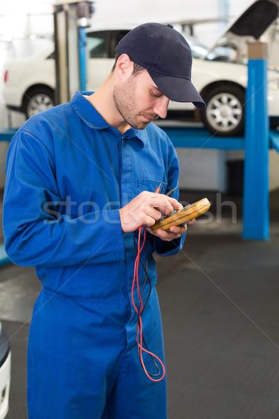 механиком диагностический инструментом ремонта гаража службе Сток-фото © wavebreak_media
