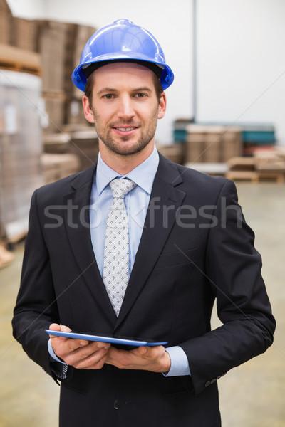 Magazijn manager tablet groot Stockfoto © wavebreak_media