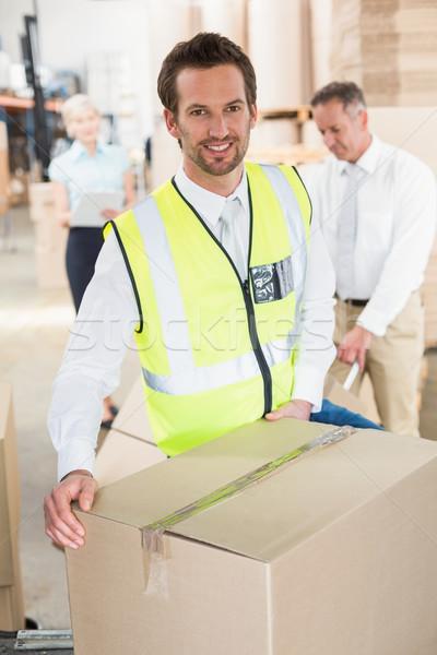 доставки драйвера ван коробки за пределами склад Сток-фото © wavebreak_media