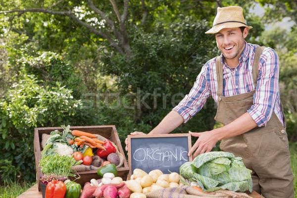 Agriculteur organique marché Photo stock © wavebreak_media