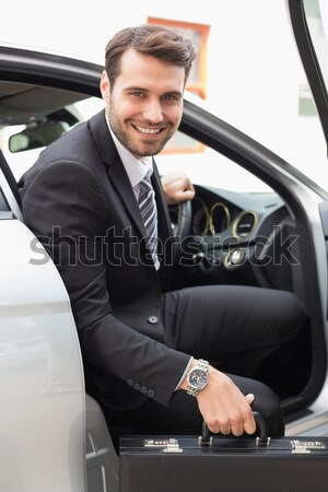 Businessman getting out the front door Stock photo © wavebreak_media