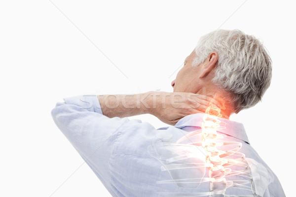 Gerincoszlop fájdalom férfi digitális kompozit háttér gyógyszer Stock fotó © wavebreak_media