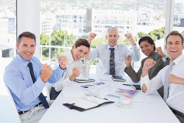 бизнес-команды хорошие работу служба счастливым Сток-фото © wavebreak_media
