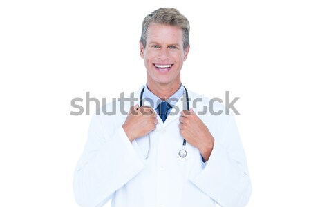 мужской доктор Постоянный белый улыбка человека работу Сток-фото © wavebreak_media