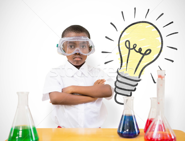 Composite image of pupil conducting science experiment Stock photo © wavebreak_media