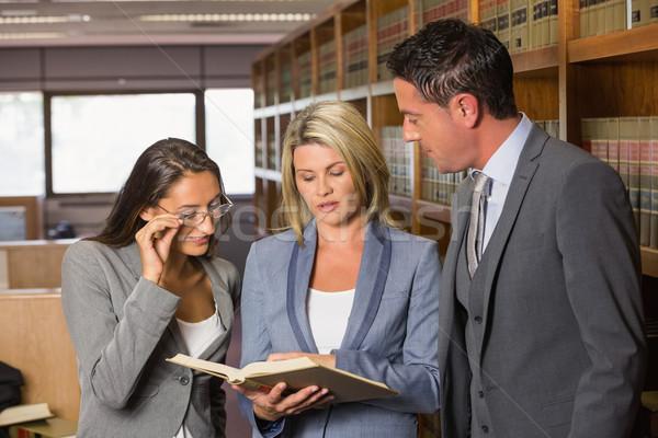 Rechtsanwälte Recht Bibliothek Universität Buch Schule Stock foto © wavebreak_media