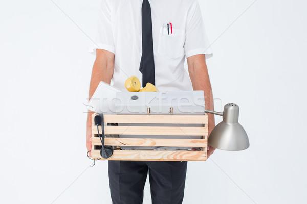 Empresário caixa negócio amarrar masculino Foto stock © wavebreak_media