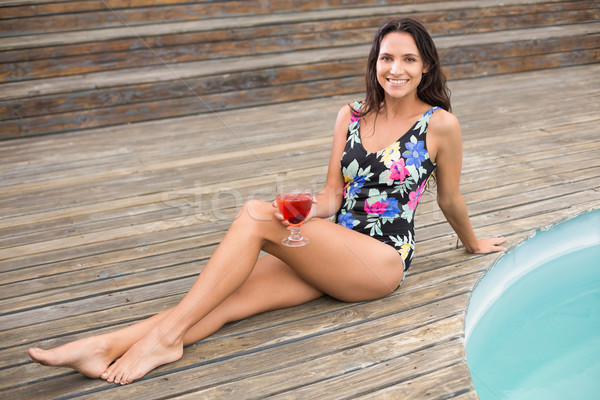 Beautiful woman in swimwear relaxing  Stock photo © wavebreak_media