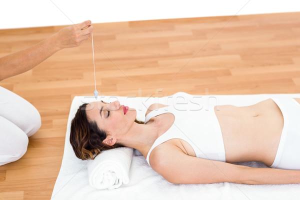 женщину полу белый отель помочь Spa Сток-фото © wavebreak_media