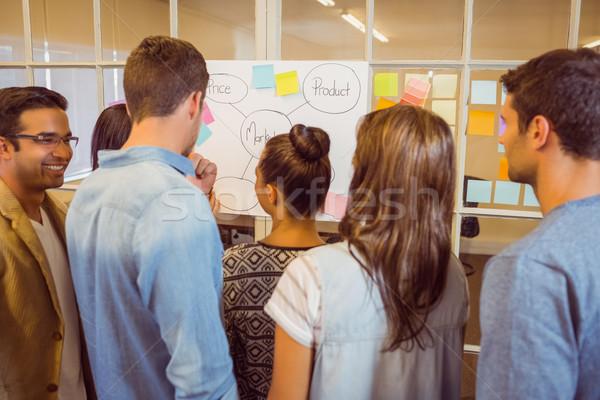 Achteraanzicht business team vergadering kantoor man gelukkig Stockfoto © wavebreak_media