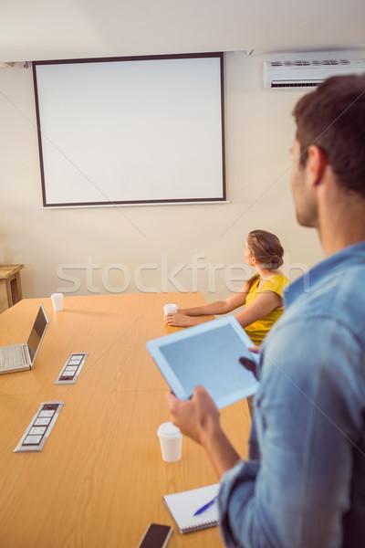 Attento squadra di affari presentazione ufficio computer riunione Foto d'archivio © wavebreak_media