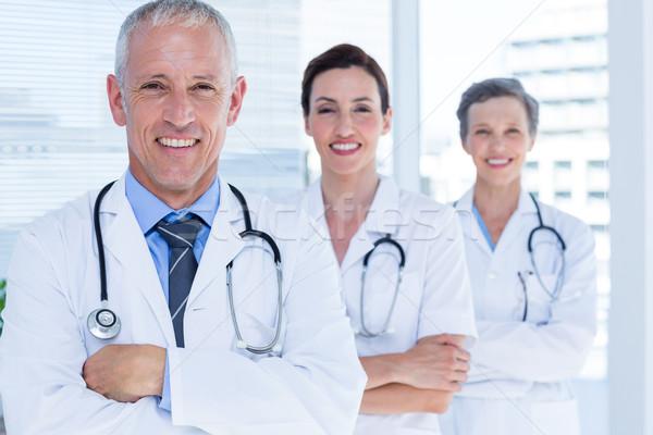 Portret drie glimlachend medische collega's Stockfoto © wavebreak_media