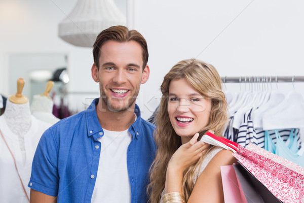 Retrato feliz casal roupa armazenar Foto stock © wavebreak_media