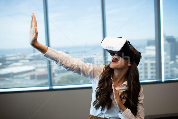 女性実業家 バーチャル 現実 眼鏡 ストックフォト © wavebreak_media