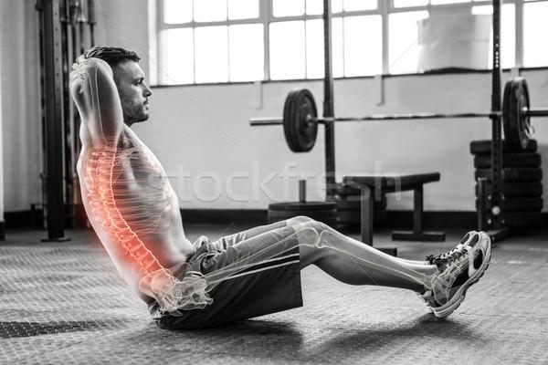 Wirbelsäule Mann Fitnessstudio digital composite Fitness Stock foto © wavebreak_media