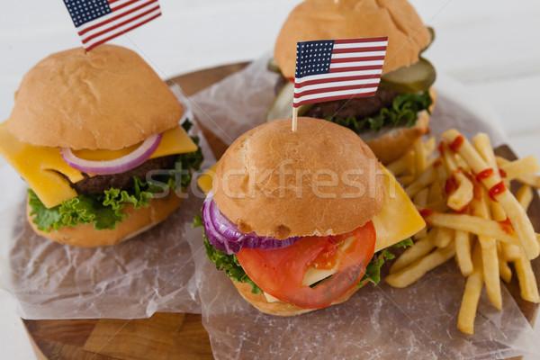 Aperitivos cuarto mesa bandera carne Foto stock © wavebreak_media