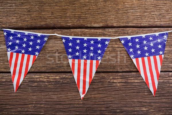 Vatansever ahşap masa arka plan bayrak özgürlük Stok fotoğraf © wavebreak_media