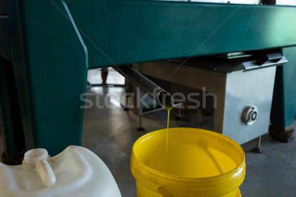 Aceite de oliva máquina fábrica tecnología industria de trabajo Foto stock © wavebreak_media