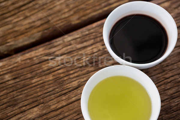 Olive oil and balsamic vinegar in bowl Stock photo © wavebreak_media