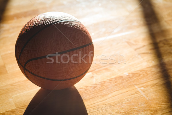 Oranje basketbal vloer Stockfoto © wavebreak_media