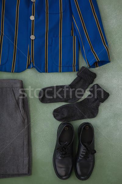 Iskolai egyenruha tábla közelkép ablak oktatás tanulás Stock fotó © wavebreak_media