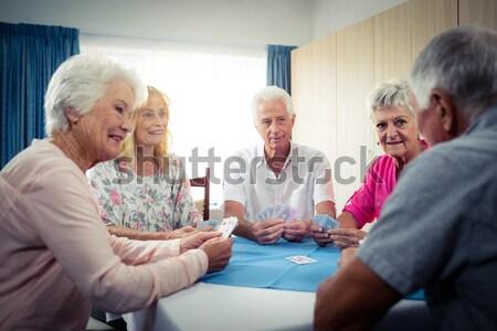 幸せ シニア 友達 見える ノートパソコン 座って ストックフォト © wavebreak_media