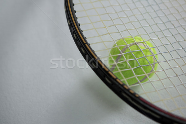 Magasról fotózva kilátás ütő teniszlabda fehér üzlet Stock fotó © wavebreak_media