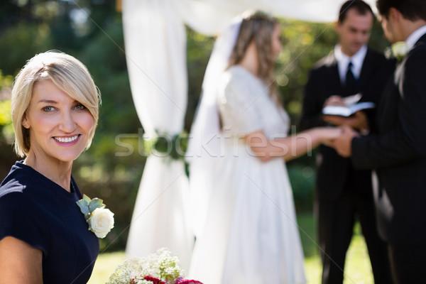 Portrait of woman smiling in park Stock photo © wavebreak_media