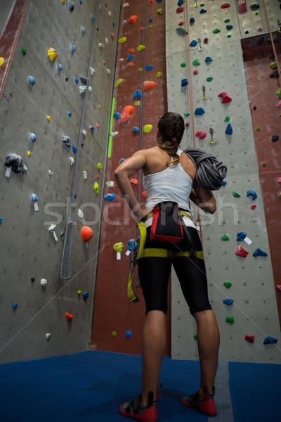 Thoughtful woman looking at wall Stock photo © wavebreak_media