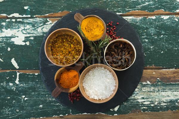 Various spices arranged in board Stock photo © wavebreak_media