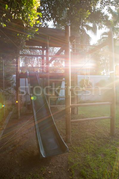 遊び場 庭園 空っぽ ツリー 自然 ストックフォト © wavebreak_media