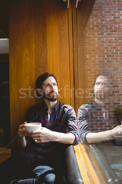Hipster student having coffee in canteen Stock photo © wavebreak_media