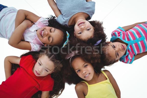 Cute девочек круга белый экране Сток-фото © wavebreak_media