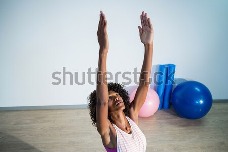 Weiblichen Studenten Ausbilder Yoga Studio Stock foto © wavebreak_media