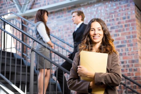 деловая женщина Постоянный лестница документы служба бизнеса Сток-фото © wavebreak_media