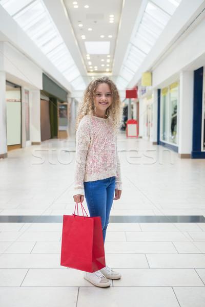 счастливая девушка корзина счастливым Сток-фото © wavebreak_media