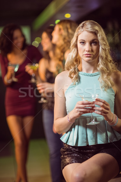 питьевой коктейль Бар женщину фрукты Сток-фото © wavebreak_media