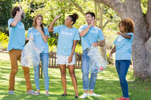 Group of volunteer having fun Stock photo © wavebreak_media
