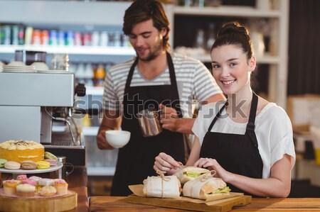 Garson garson çalışma arkasında karşı gıda Stok fotoğraf © wavebreak_media