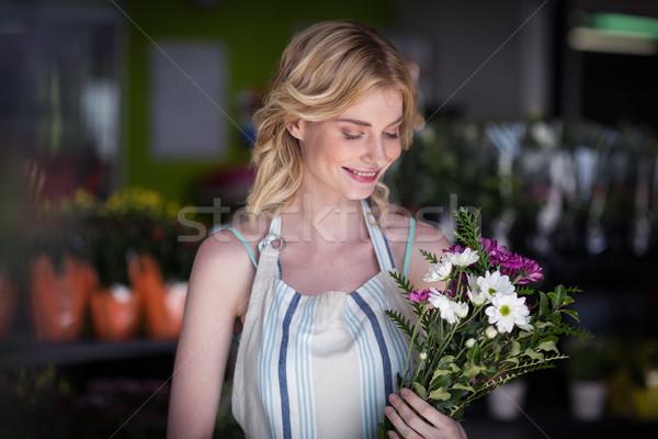 Photo stock: Homme · fleuriste · fleur · fleurs