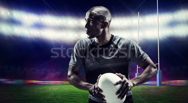 Imagen determinado rugby jugador Foto stock © wavebreak_media