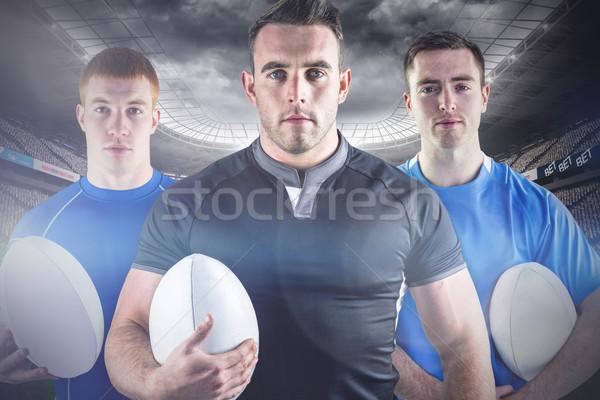 Afbeelding taai rugby spelers stadion Stockfoto © wavebreak_media