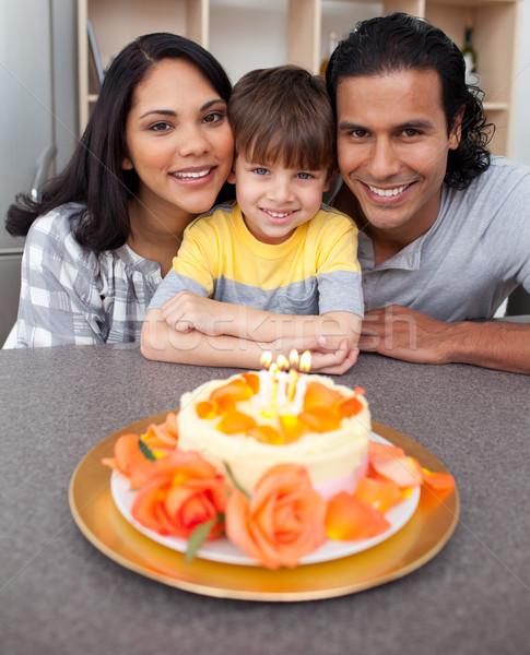 внимательный родителей рождения кухне вечеринка Сток-фото © wavebreak_media