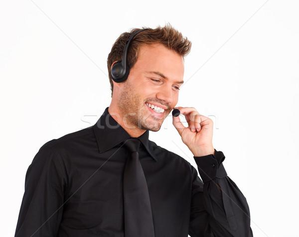 吸引力 顧客服務 代表 男子 耳機 業務 商業照片 © wavebreak_media