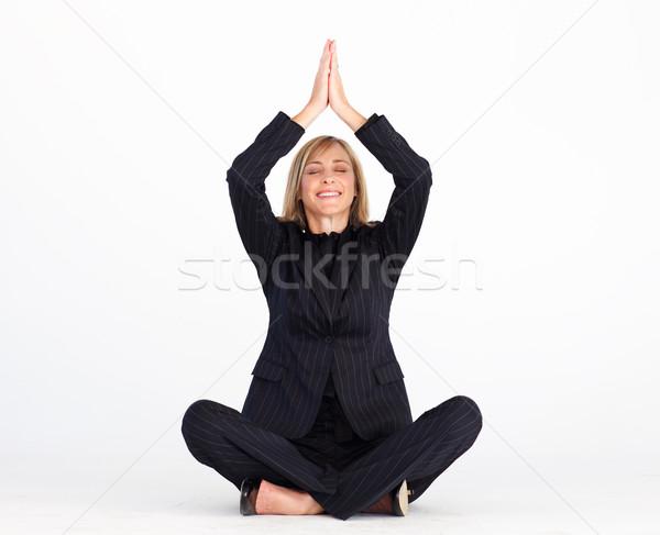 Foto stock: Mujer · de · negocios · relajación · negocios · mujeres · trabajo · ejercicio