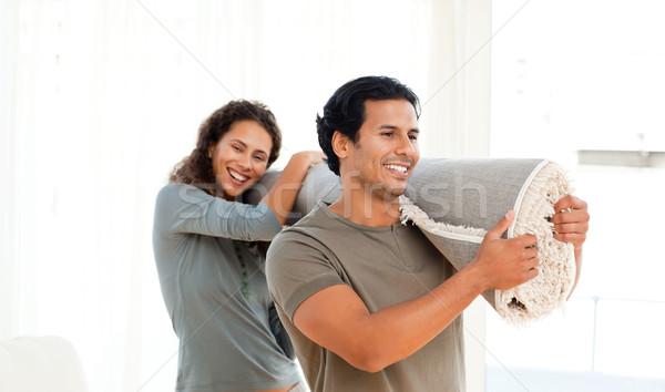 幸せ カップル カーペット 一緒に 新しい ストックフォト © wavebreak_media