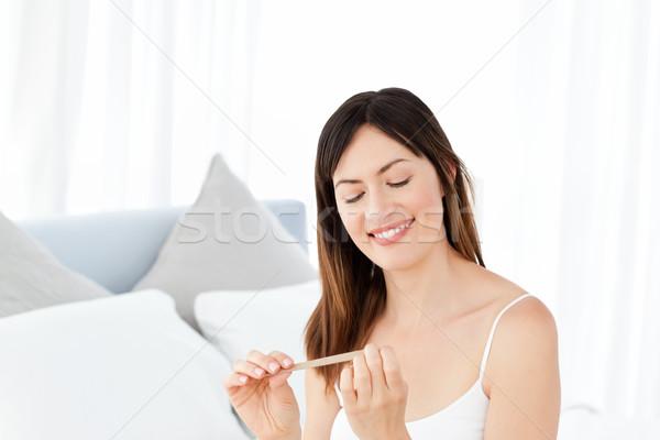 Donna chiodi spazio bagno pelle femminile Foto d'archivio © wavebreak_media