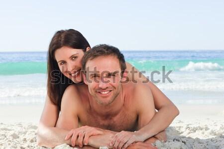 женщину дружок пляж человека лет Сток-фото © wavebreak_media