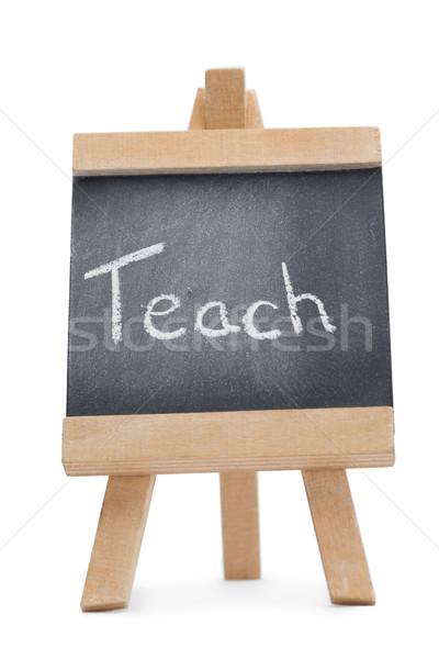Lavagna parola insegnare scritto isolato bianco Foto d'archivio © wavebreak_media